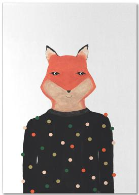 Fox with Sweater Notepad