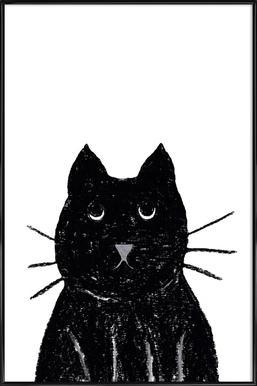 Innocent Cat Affiche sous cadre standard
