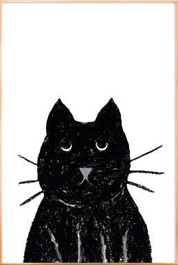 Innocent Cat Poster in Aluminium Frame