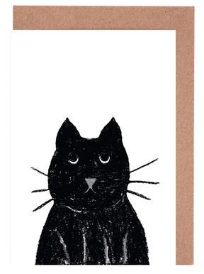 Innocent Cat Greeting Card Set