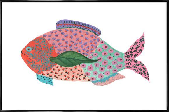 Fancy Fish Affiche sous cadre standard