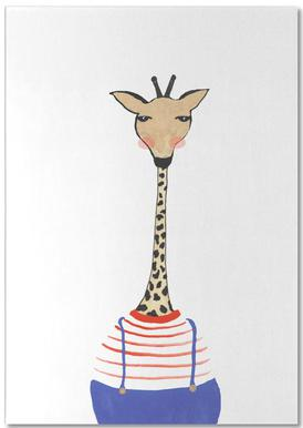 Giraffe with Clothes Bloc-notes