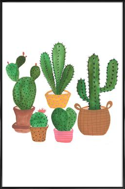 Cactus Family Poster in Standard Frame