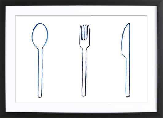 Kitchen Objects Vol.1 affiche sous cadre en bois