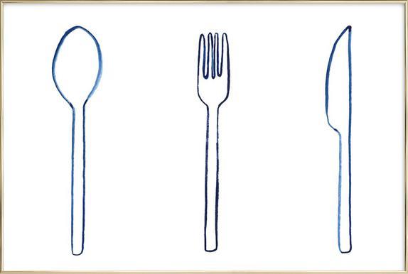 Kitchen Objects Vol.1 -Poster im Alurahmen