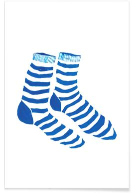 Striped Socks Poster