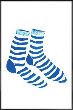 Striped Socks -Bild mit Kunststoffrahmen
