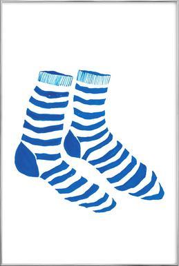 Striped Socks -Poster im Alurahmen