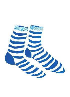 Striped Socks -Leinwandbild