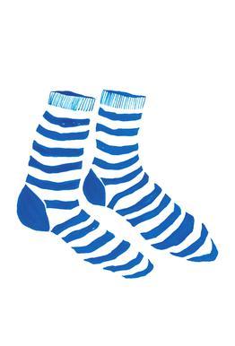 Striped Socks Aluminium Print