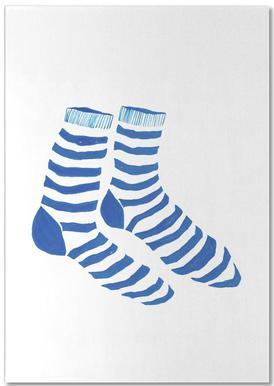 Striped Socks -Notizblock