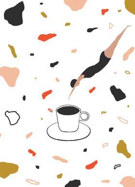 Coffee Lady Canvas Print