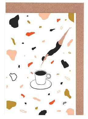 Coffee Lady -Grußkarten-Set