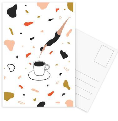 Coffee Lady cartes postales