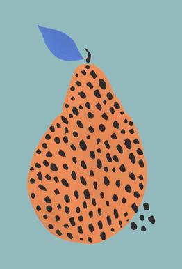 Joyful Fruits - Pear -Alubild