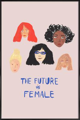 The Future is Female Poster in Standard Frame