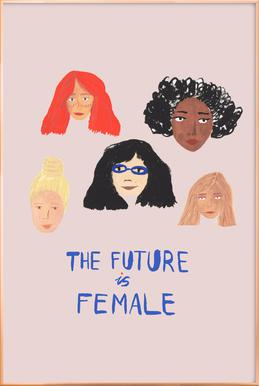 The Future is Female -Poster im Alurahmen