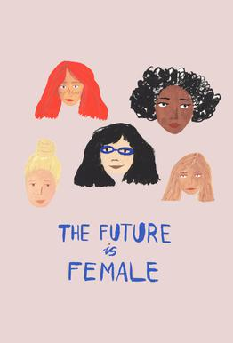 The Future is Female tableau en verre