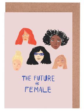 The Future is Female cartes de vœux