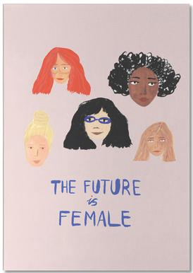 The Future is Female bloc-notes