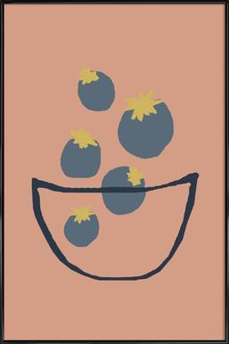 Joyful Fruits - Blueberries -Bild mit Kunststoffrahmen
