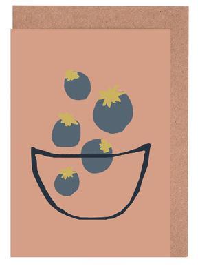 Joyful Fruits - Blueberries Set de cartes de vœux