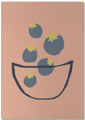 Joyful Fruits - Blueberries Notepad