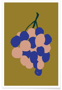 Joyful Fruits - Grapes Poster