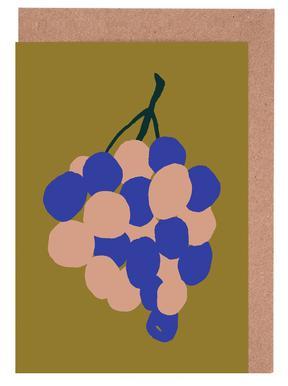 Joyful Fruits - Grapes Set de cartes de vœux