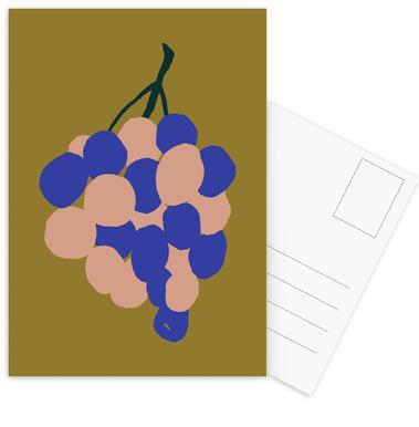 Joyful Fruits - Grapes Set de cartes postales