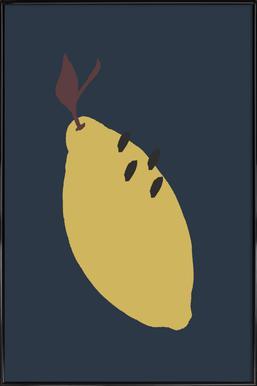 Joyful Fruits - Lemon affiche encadrée