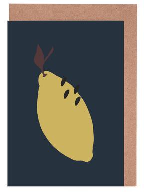 Joyful Fruits - Lemon Greeting Card Set