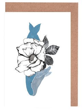 Floral Whale -Grußkarten-Set