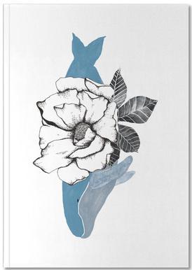 Floral Whale Notizbuch