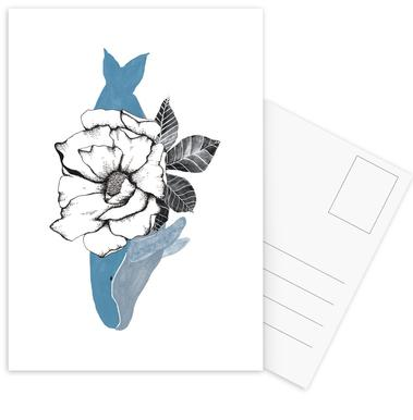 Floral Whale cartes postales