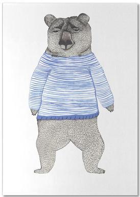 Bear with Stripes -Notizblock