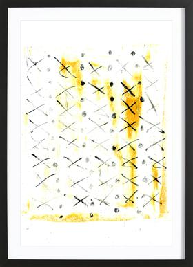 Black Triangle -Bild mit Holzrahmen