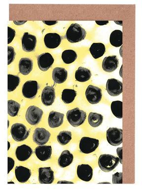 Cross Yellow Greeting Card Set