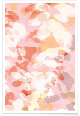 Floral Pastell affiche