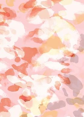 Floral Pastell -Leinwandbild