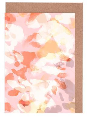 Floral Pastell -Grußkarten-Set