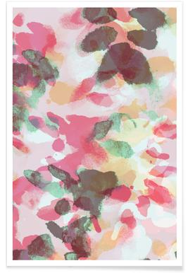 Floral Aquaellic affiche
