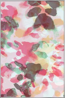 Floral Aquaellic Poster in Aluminium Frame