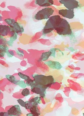 Floral Aquaellic -Leinwandbild