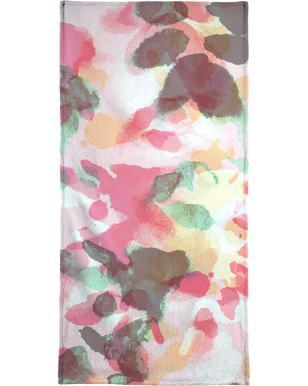 Floral Aquaellic serviette de bain