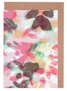 Floral Aquaellic cartes de vœux