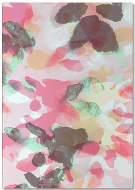 Floral Aquaellic -Notizblock