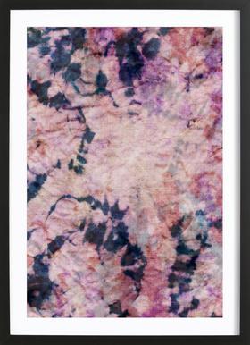 Textile Study Rosé affiche sous cadre en bois