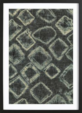 Textile Study Bordeaux -Bild mit Holzrahmen