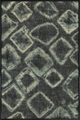 Textile Study Bordeaux -Bild mit Kunststoffrahmen